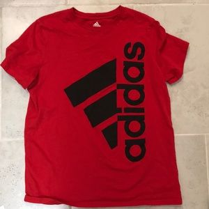 Boys adidas shirt large 14/16